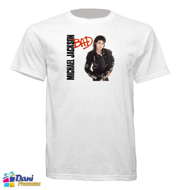 Camiseta Michael Jackson - Capa Disco Bad