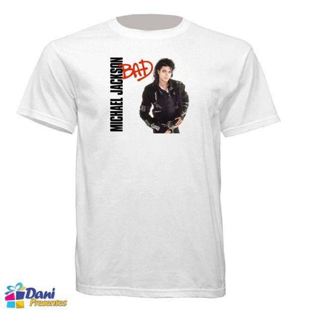 Camiseta Michael Jackson - Capa Disco Bad