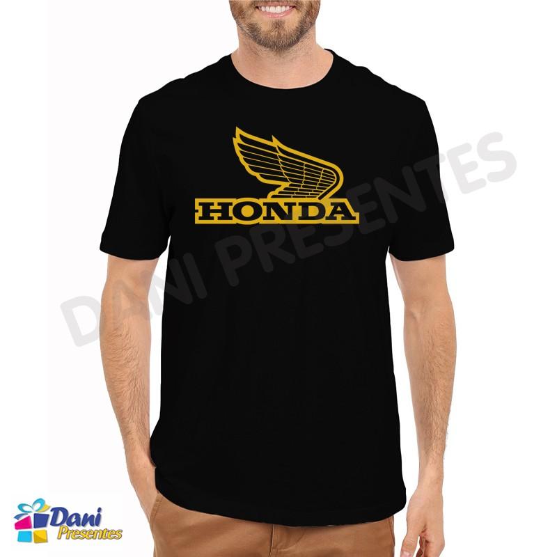 Camiseta Moto Honda - Preta