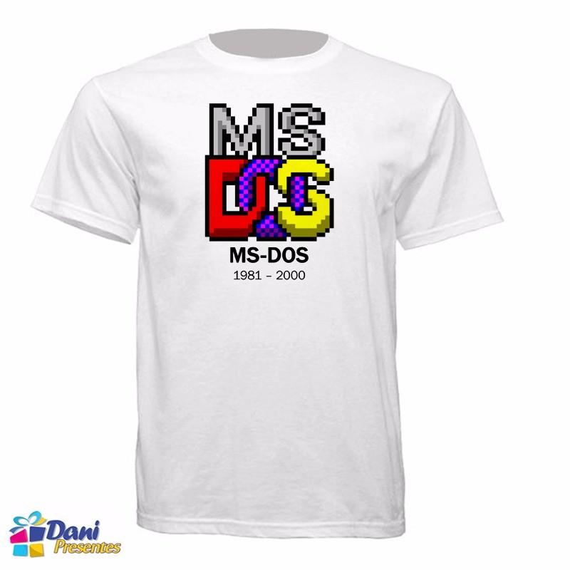 Camiseta MS-DOS - Notalgia Anos 80