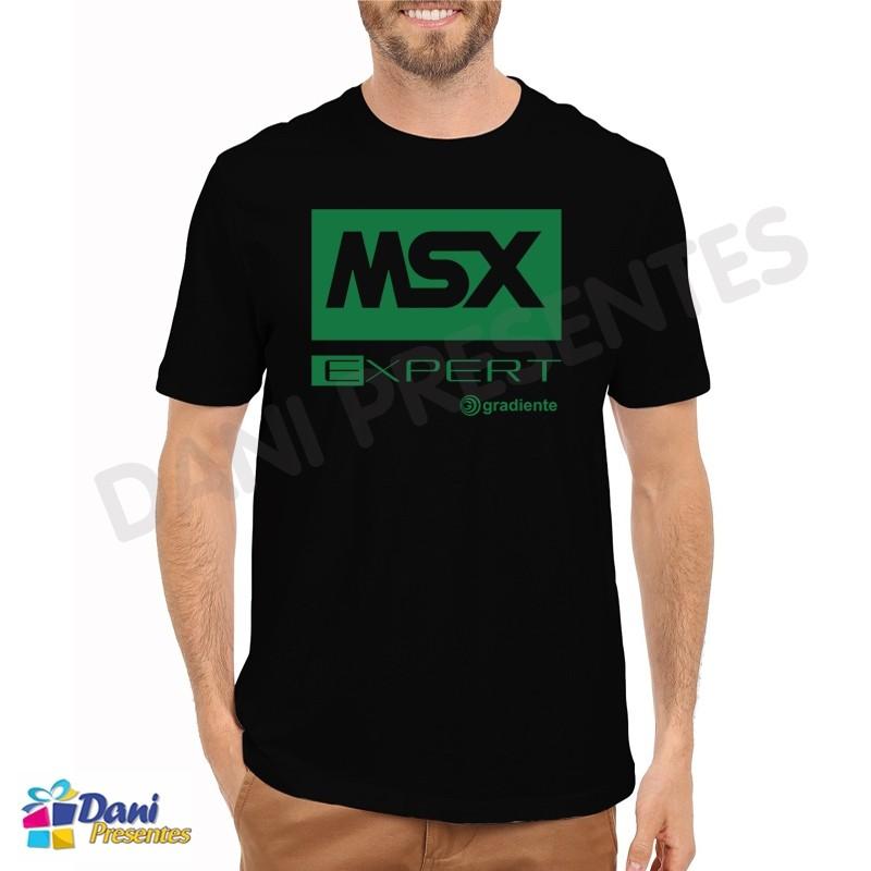 Camiseta MSX Expert - Preta