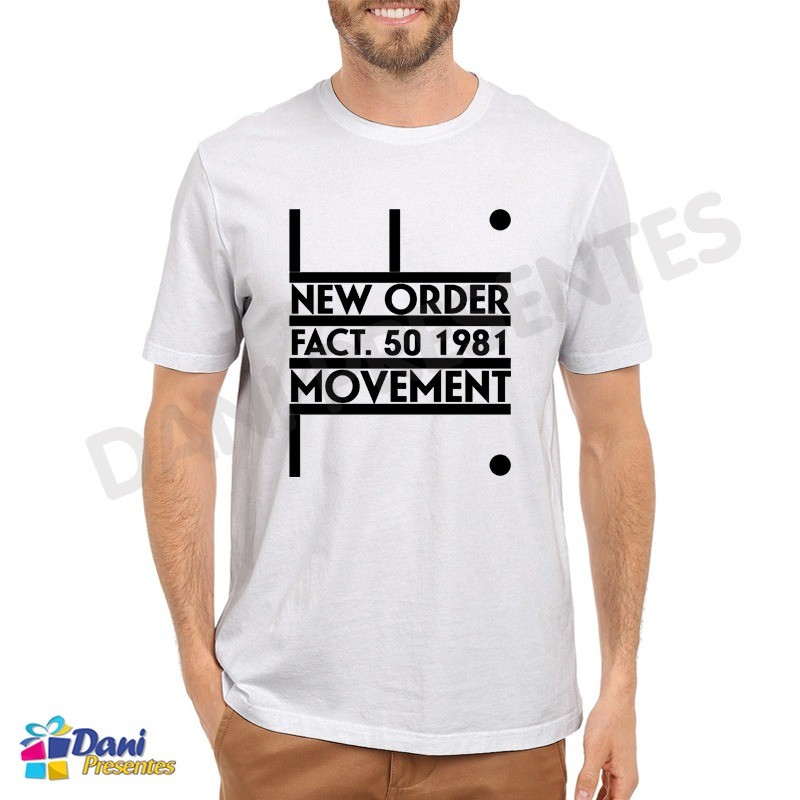 Camiseta New Order Movement Fact 50