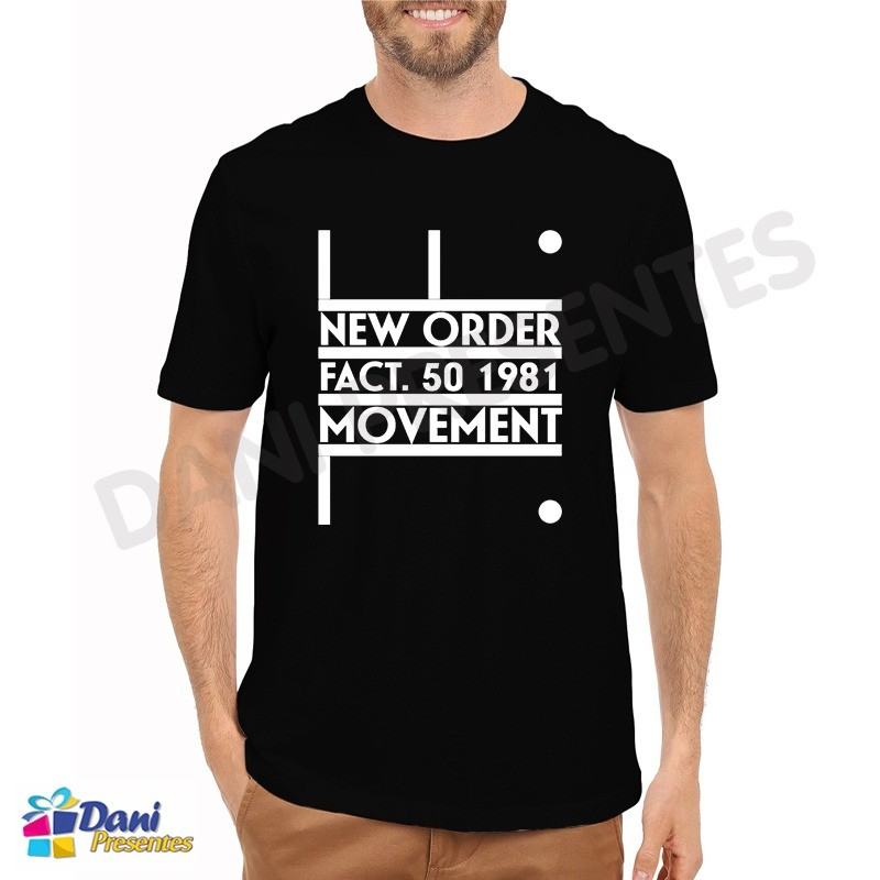Camiseta New Order Movement Fact 50 - Preta