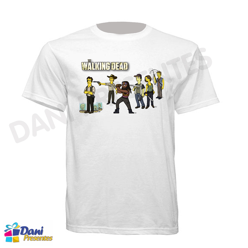 Camiseta Os Simpsons em The Walking Dead