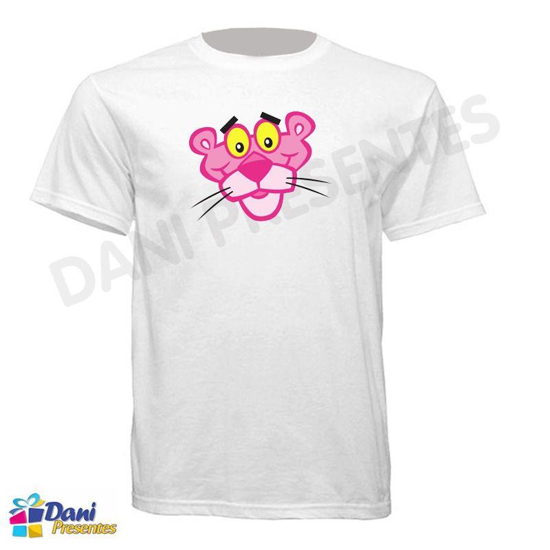 Camiseta Pantera Cor de Rosa