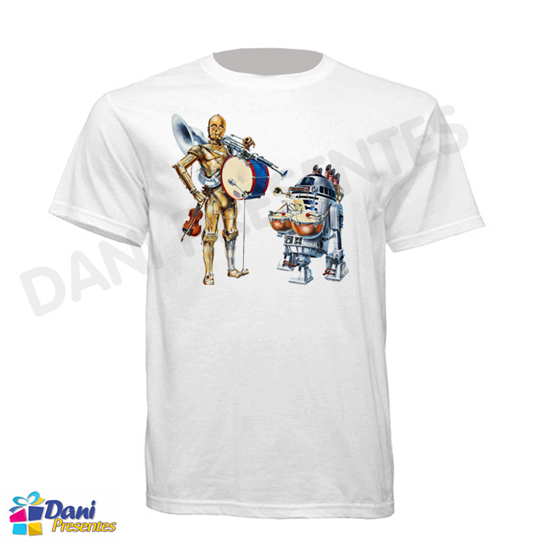Camiseta Star Wars R2-D2 e C-3PO