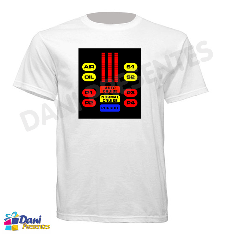 Camiseta Super Máquina Knight Rider - Painel