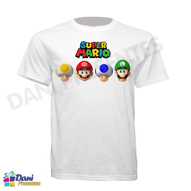 Camiseta Super Mario Bros - Mario - Luigi - Toads