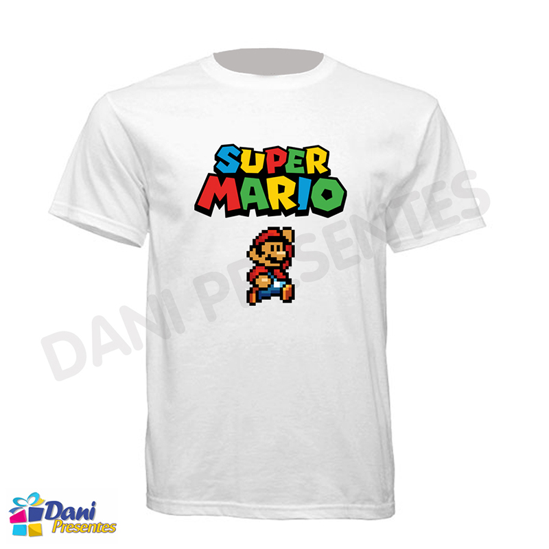 Camiseta Super Mario Bros Retrô