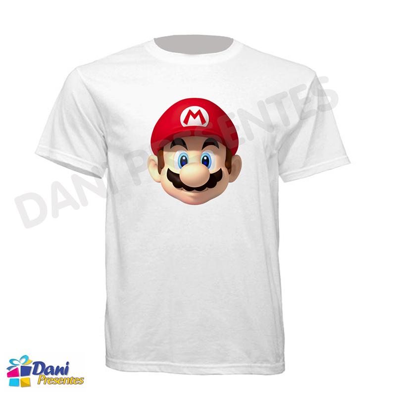 Camiseta Super Mario Bros Rosto