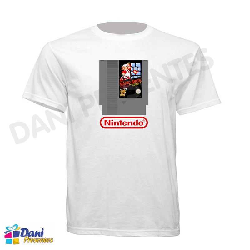 Camiseta Super Mario Cartucho Nintendo