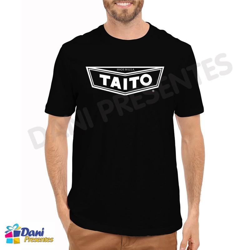 Camiseta Taito - Retrô Game - Preta