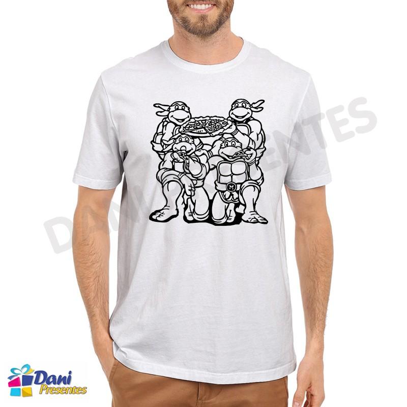 Camiseta Tartarugas Ninja Pizza