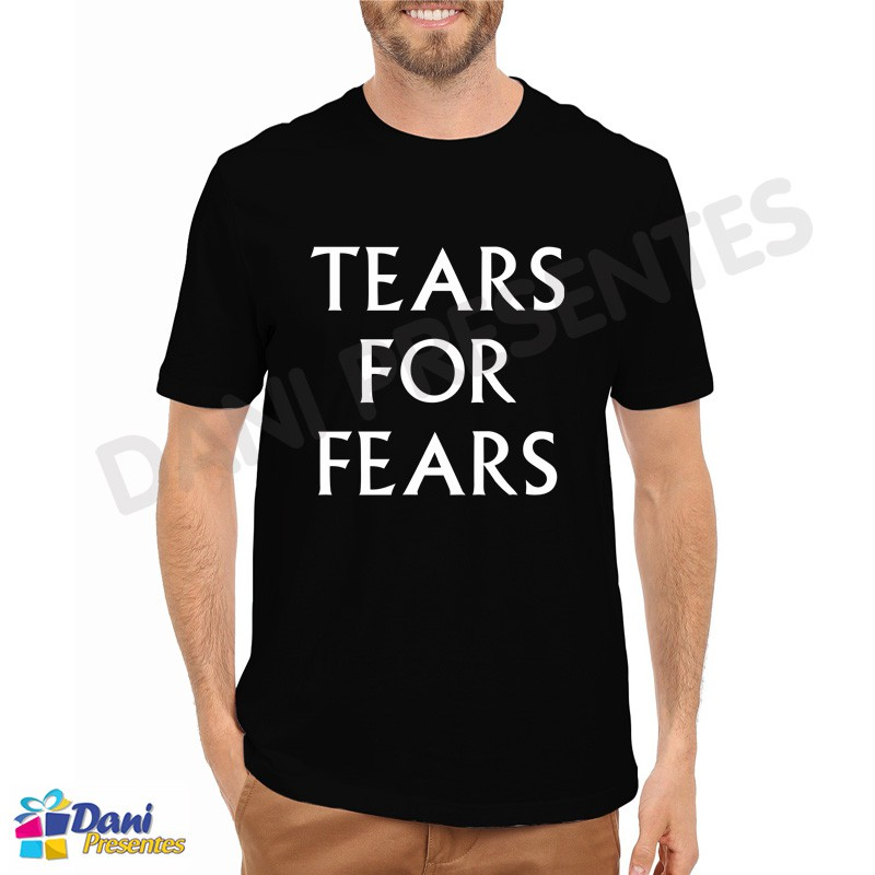 Camiseta Tears For Fears - Preta