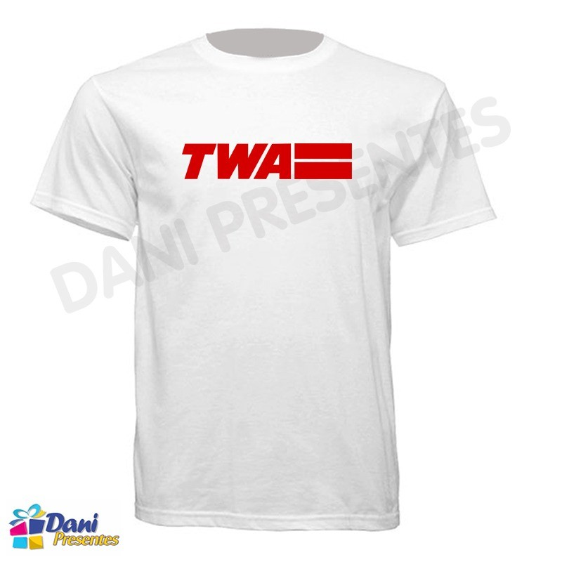 Camiseta TWA - Trans World Airlines - Aviação