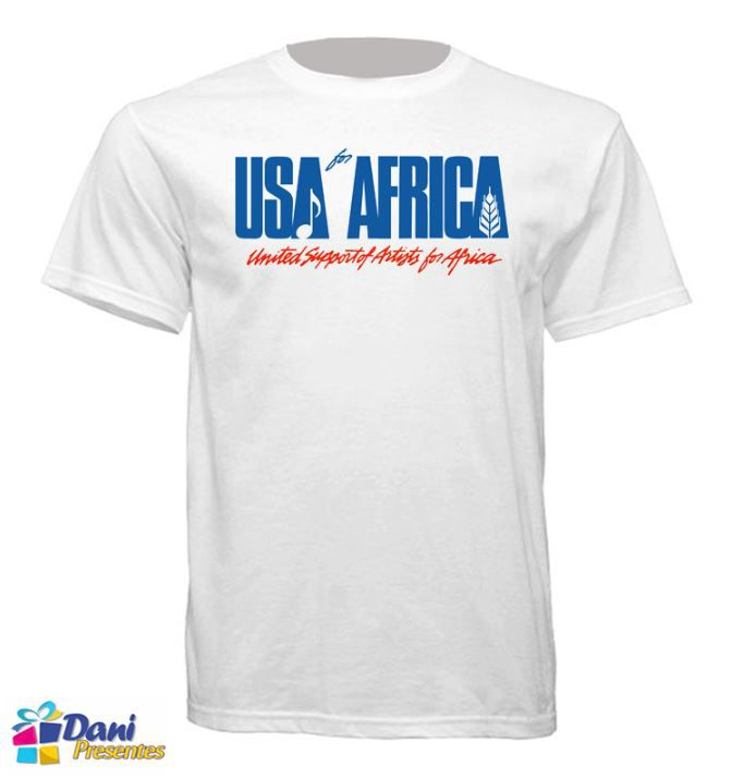 Camiseta USA for Africa - We Are The World