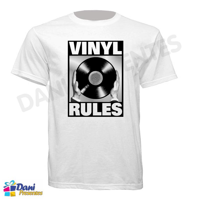 Camiseta Vinyl Rules - DJ Vinil - Disco de Vinil
