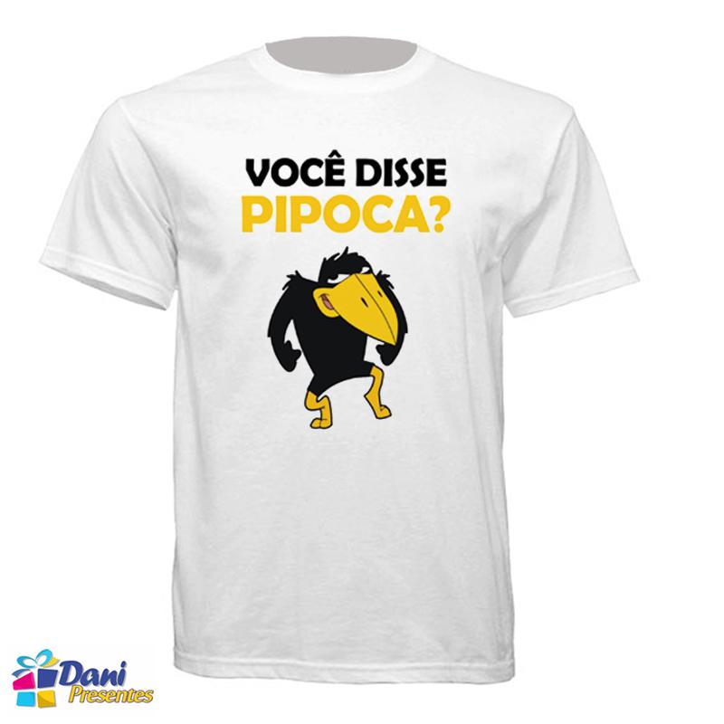 Camiseta Você disse Pipoca - Jubileu - Pica-Pau