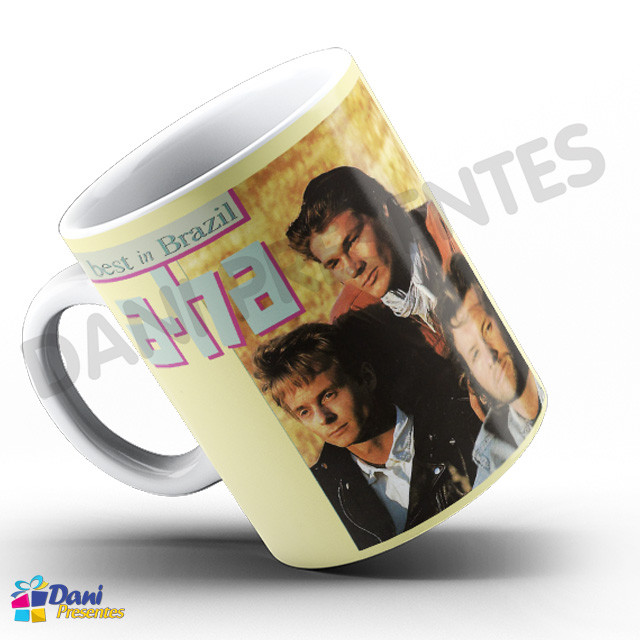 Caneca A-Ha - Capa do Disco Best in Brazil