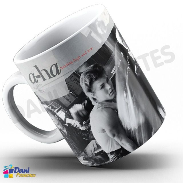 Caneca A-Ha - Capa do Disco Hunting High and Low