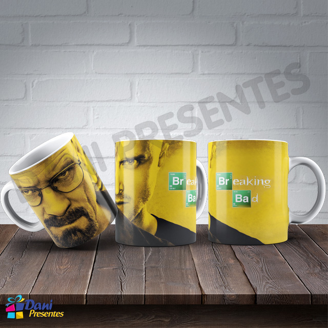Caneca Breaking Bad Walter White e Jesse Pinkman