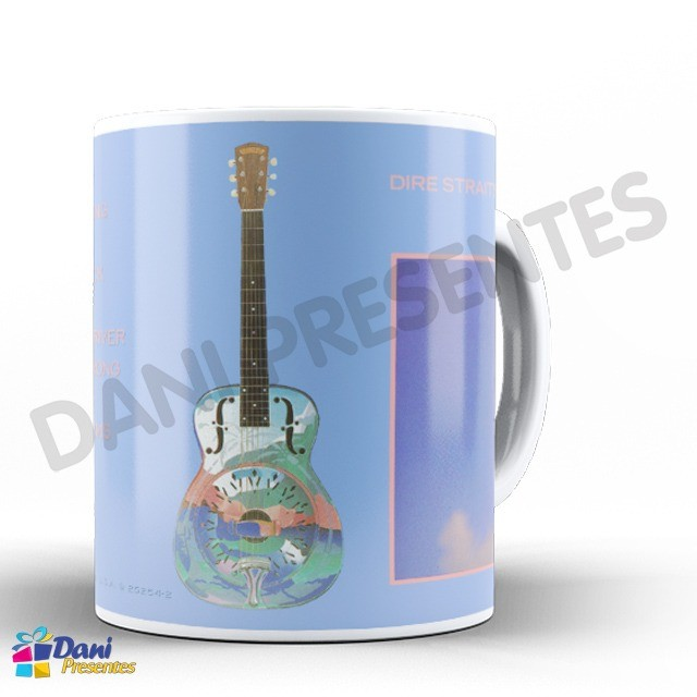 Caneca Dire Straits - Capa do Disco LP Brothers in Arms