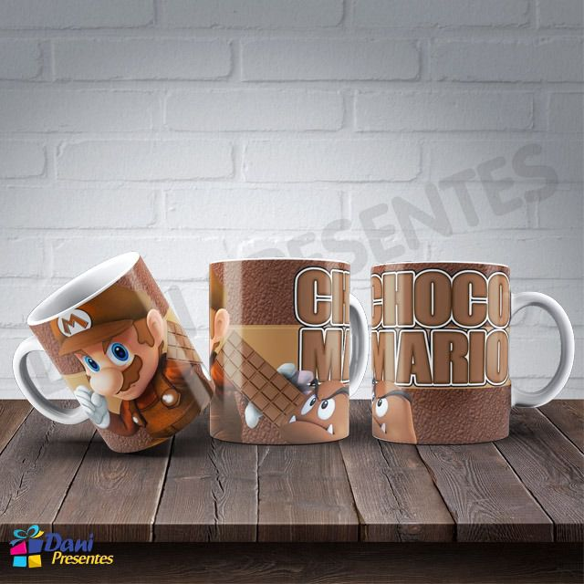 Caneca Chocolate Super Mario Bros