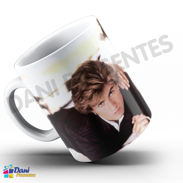 Caneca George Michael Wham! - Capa do Disco Make it Big