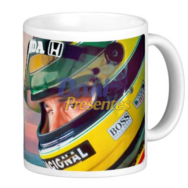 Caneca Homenagem Ayrton Senna