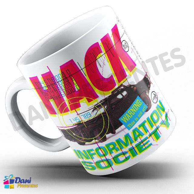 Caneca Information Society - Capa do Disco Hack