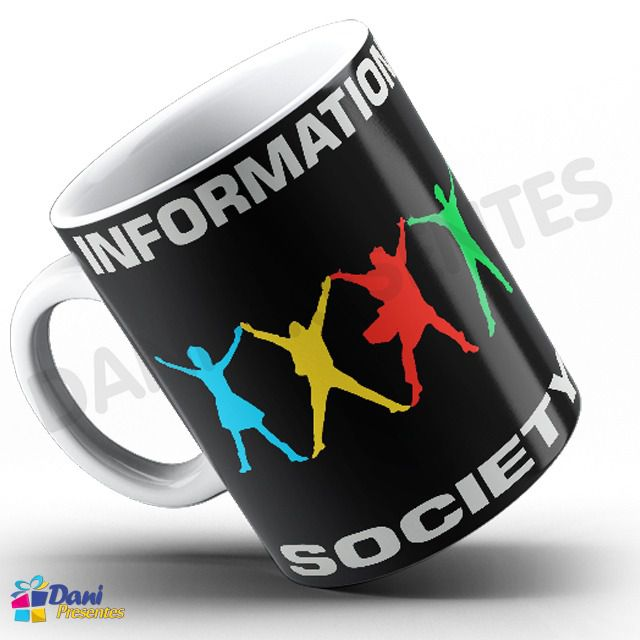 Caneca Information Society - Capa do Disco Software Hardware