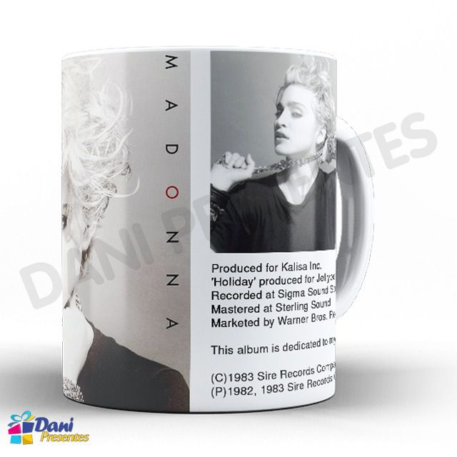 Caneca Madonna - Capa do Disco Madonna 1983 - First Album