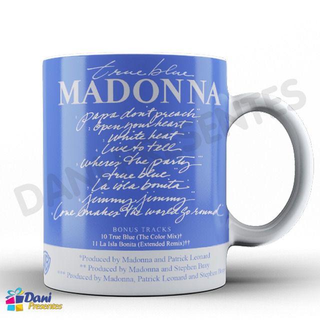 Caneca Madonna - Capa do Disco True Blue