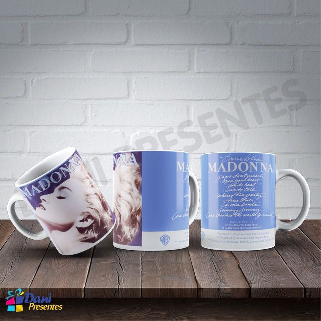Caneca Madonna - Capa do Disco True Blue