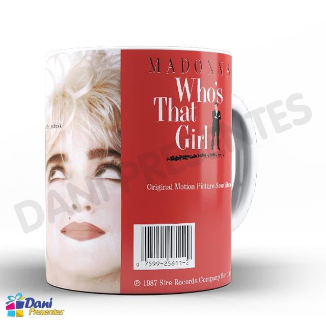 Caneca Madonna - Capa do Disco Who's That Girl