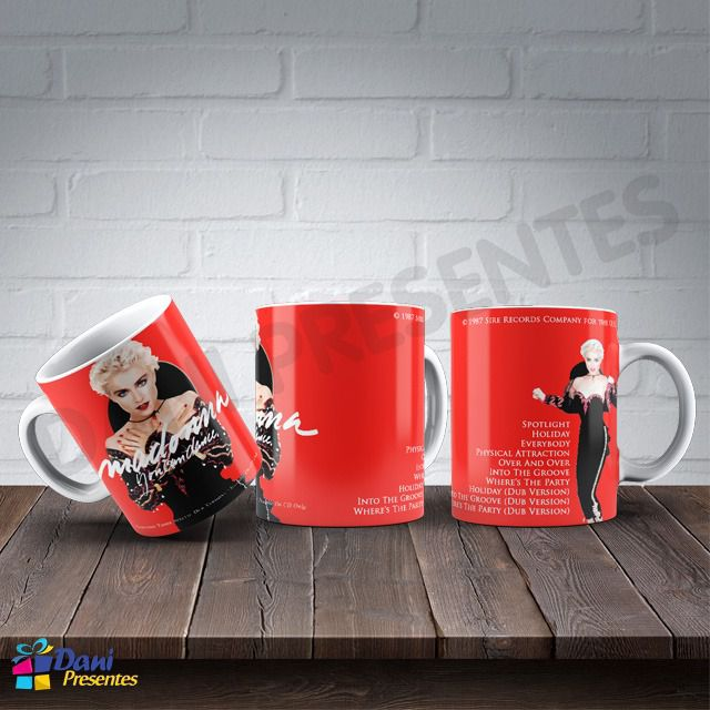 Caneca Madonna - Capa do Disco You Can Dance