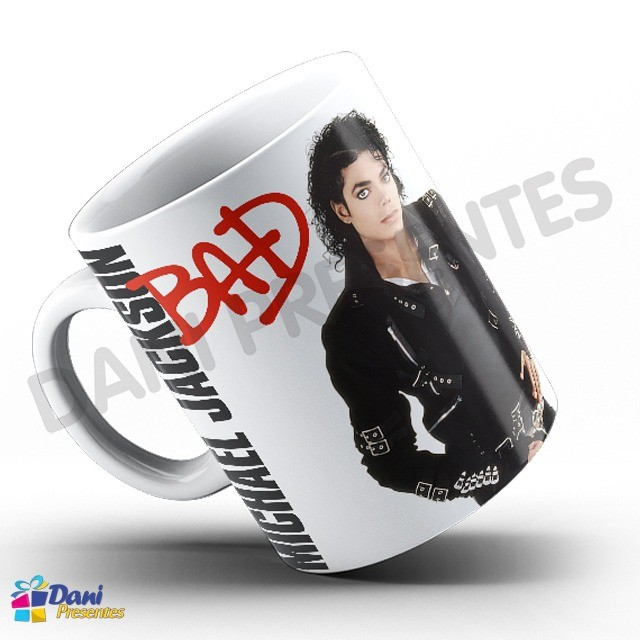 Caneca Michael Jackson - Capa do Disco Bad