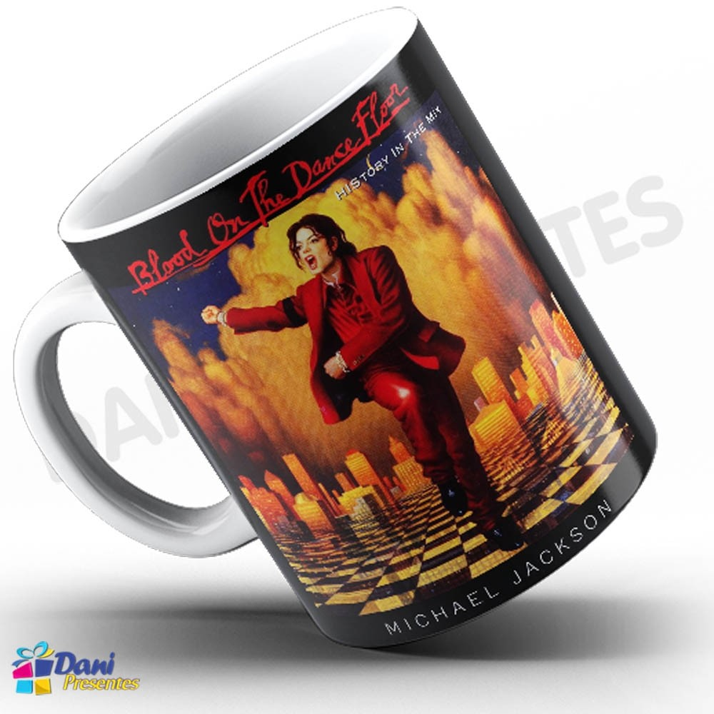 Caneca Michael Jackson - Capa Do Disco Blood On The Dance Floor