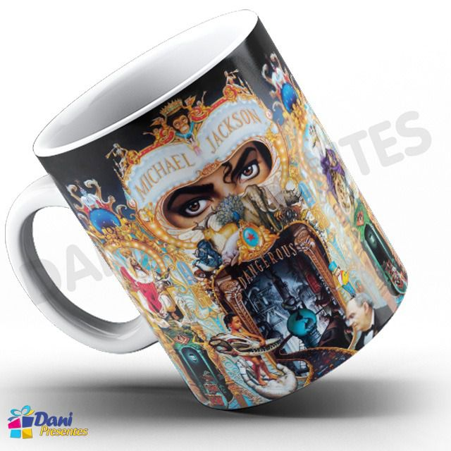 Caneca Michael Jackson - Capa do Disco Dangerous