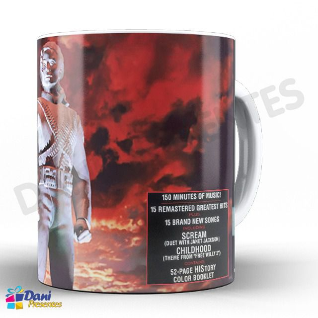 Caneca Michael Jackson - Capa do Disco History