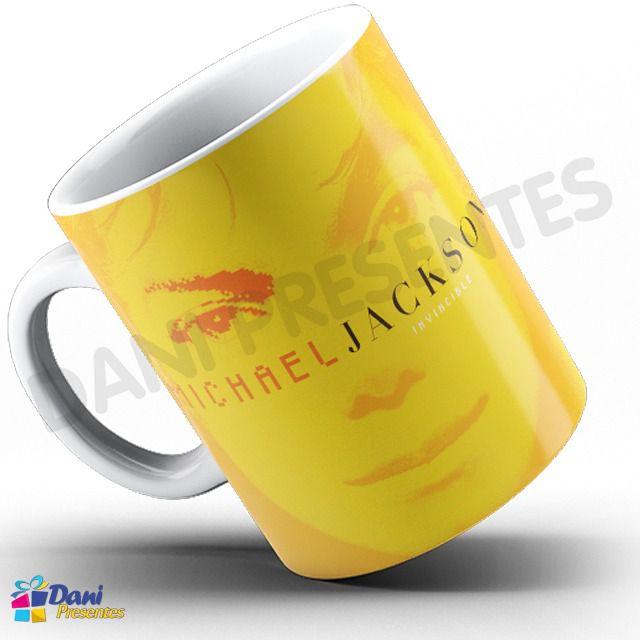 Caneca Michael Jackson - Capa Do Disco Invincible