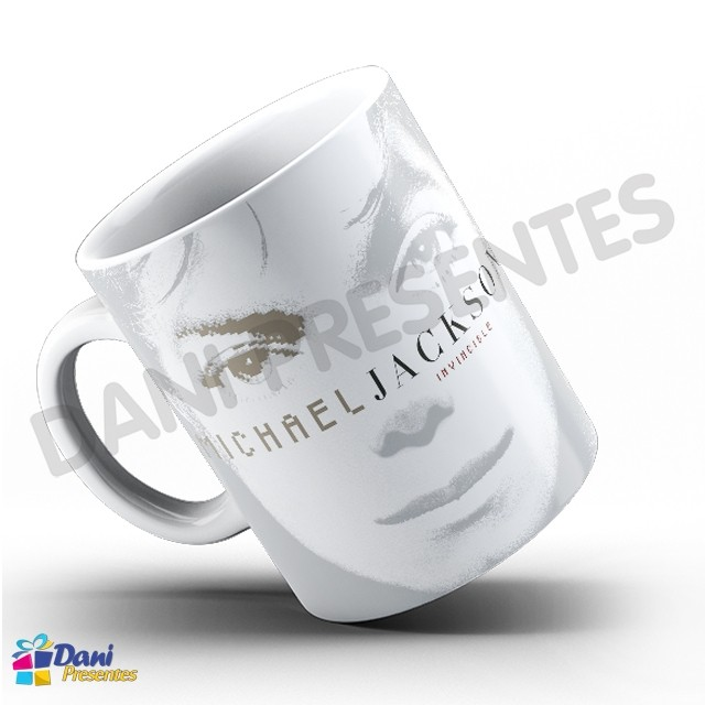 Caneca Michael Jackson - Capa Do Disco Invincible White