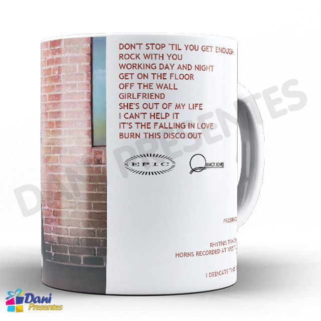 Caneca Michael Jackson - Capa do Disco Off The Wall