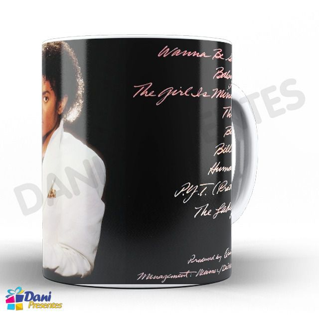 Caneca Michael Jackson - Capa do Disco Thriller