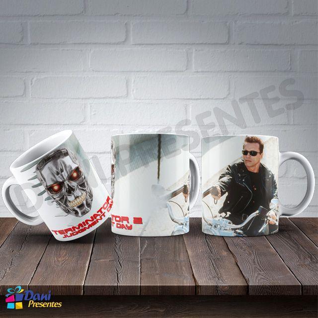 Caneca O Exterminador do Futuro - Arnold Schwarzenegger