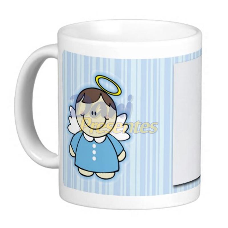 Caneca Personalizada com Foto - Anjinho Azul