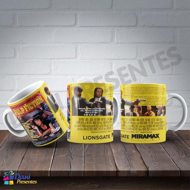 Caneca Quentin Tarantino - Pulp Fiction - Tempo de Violência