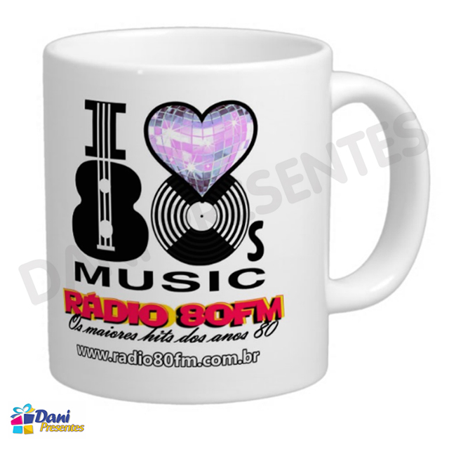 Caneca Rádio 80FM FlashDance