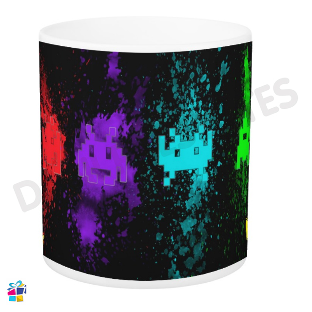 Caneca Space Invaders - Retrô Game