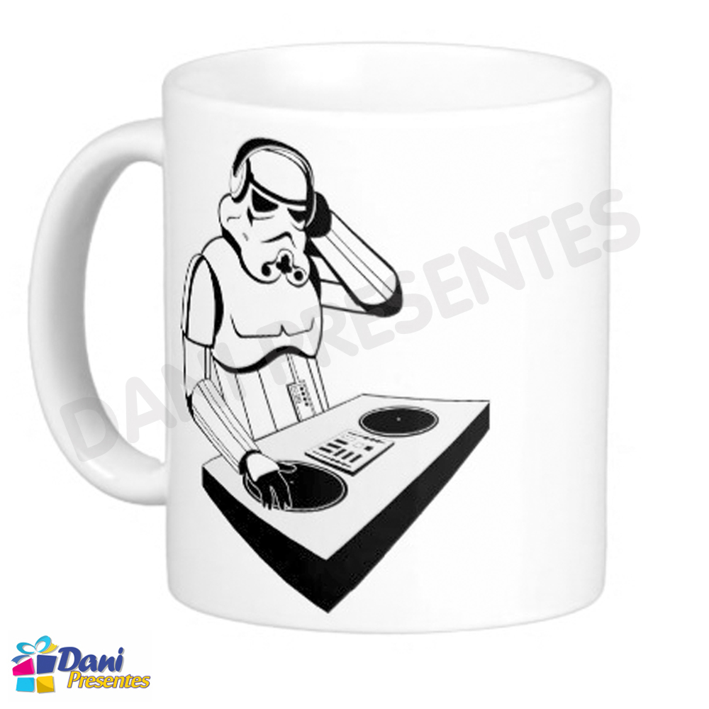 Caneca Star Wars - Stormtroopers DJ - Disco de Vinil